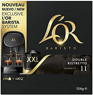 LOR BARISTA, Cápsulas Doble Ristretto Intensidad 11 - Exclusivas ...