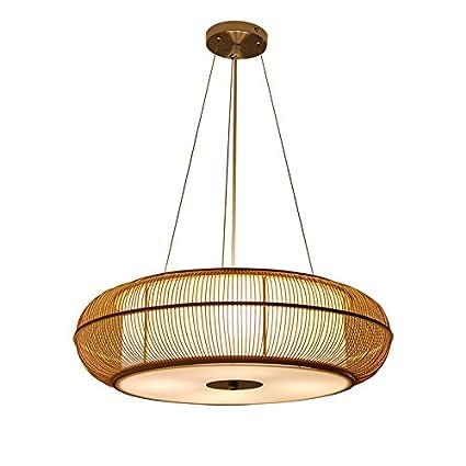GYP Lámpara de techo de bambú, Restaurante Luz de techo ...