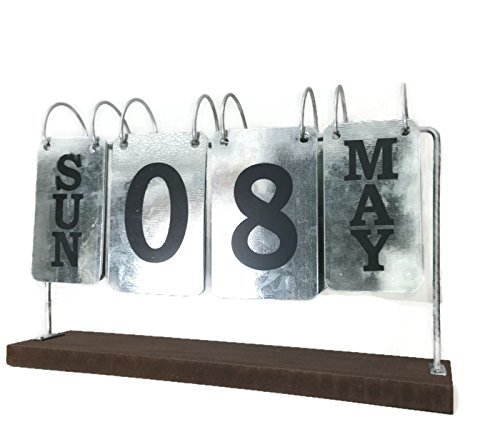 Metal Desk Calenda. Rustic Flip Calendar can be used year after (Used Metal Desk)
