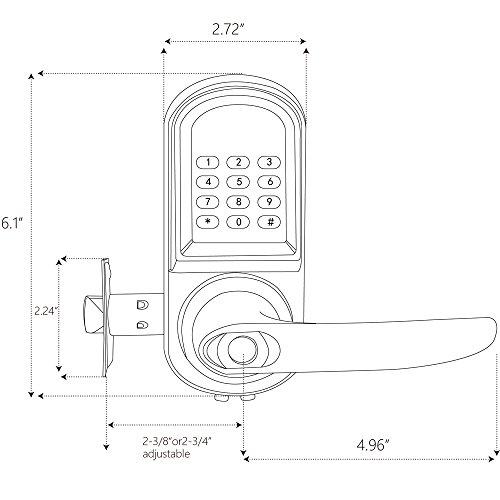 haifuan right hand electronic keyless code door lock