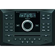 Jensen JWM62A AM FM DVD CD USB AUX App Ready Bluetooth Wallmount Stereo w/App Control, 3-Speaker Zones / 8 Speaker Output 8X 6 Watt, Receives Bluetooth Audio (A2DP) (Renewed)
