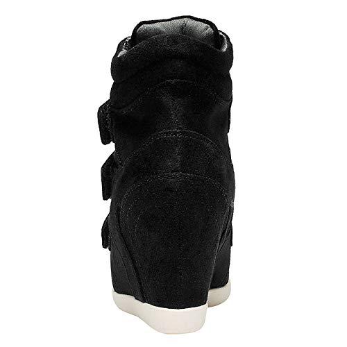 Comfort Boots Spring Zapatos Sneakers Wedge de Azul Vino Leather Nappa ZHZNVX Heel Mujer Blue Fashion Marrón YA8wxq