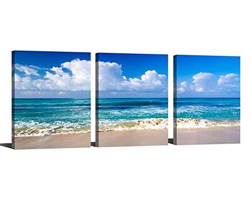 - Art26 Canvas Wall Art Summer Beach Landscape Photograph Artwork for Home Decoration (Blue 02, S)