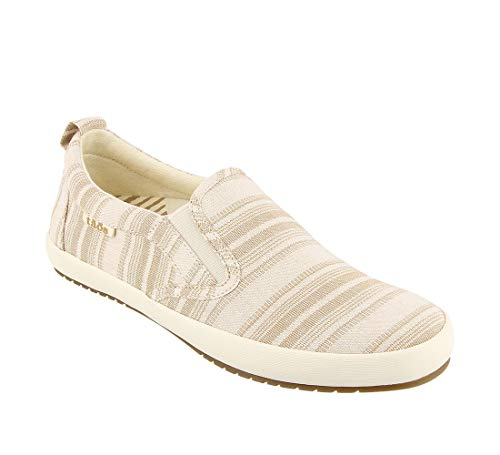 Taos Footwear Women's Dandy Tan Stripe Slip On 10 M US