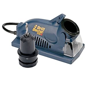 "Drill Doctor 350X Drill Bit Sharpener, Engineered for Versatility in handling popular wood & metal bits, Set Point Angle of 118°, Sharpens 3/32"" to 1/2"" standard twist bits"