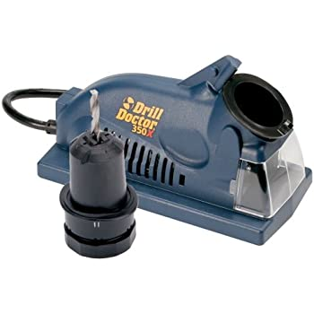 """Drill Doctor 350X Drill Bit Sharpener, Engineered for Versatility in handling popular wood & metal bits, Set Point Angle of 118°, Sharpens 3/32"""" to 1/2"""" standard twist bits"""