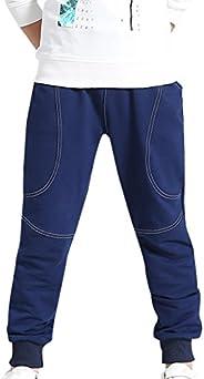 AOWKULAE Boys Sports Pants Cotton Sweatpants Jogging Trouser with Drawstring
