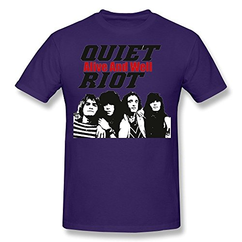 Men's QUIET RIOT Alive And Well T-shirt S Purple