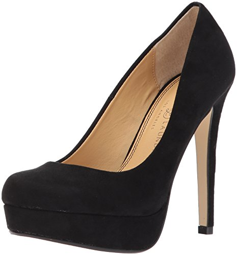 Chinese Laundry Women's Wow Platform Pump Dress, Black Suede, 8 M US Chinese Laundry Womens Shoes