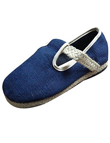 Youlee Mujeres Tejido Paja Zapatos Pareja Zapatos Bajos Azul