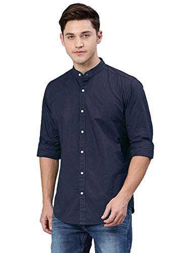 STYLETHIC Cotton Fabric Casual Chinese Collar Full Sleeves Shirts for Mens & Boys