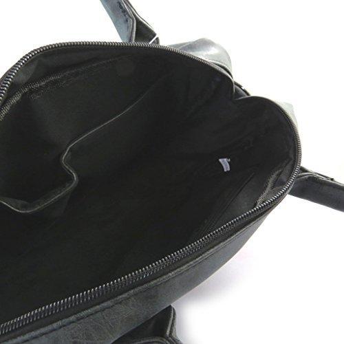 Bolsa de diseñador 'Enrico Benetti'de la vendimia negro - 34x23x11 cm.