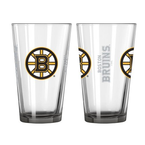 Height Pint Glass - NHL Bruins - Elite Pint Glasses (2) | Boston Bruins 16 oz. Beer Pints - Set of 2