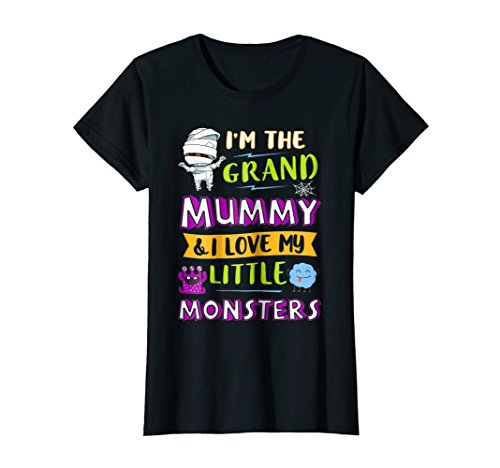 Womens Halloween I'm The Grand Mummy And I Love My Little Monsters -