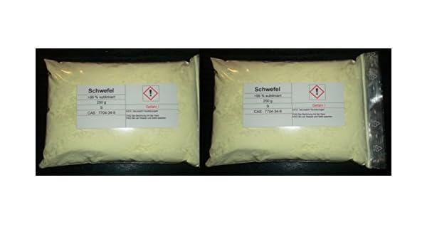 500 g azufre, sublimiert, säurearm, reinst > 99,9% para Elementales Colección: Amazon.es: Industria, empresas y ciencia