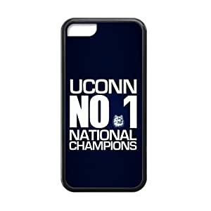 UCONN NO.1 Custom Cases for iPhone 5C TPU (Laser Technology)
