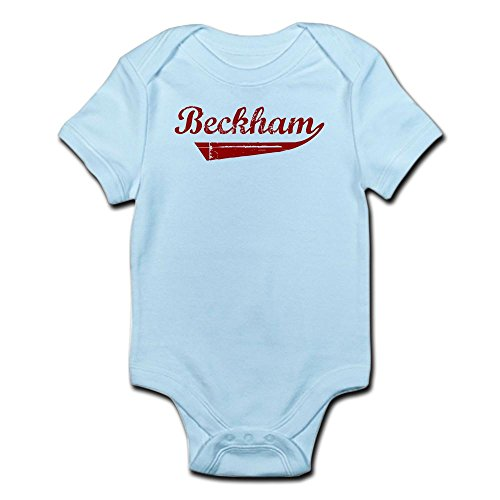 CafePress - Beckham (Red Vintage) - Cute Infant Bodysuit Baby - Beckham Family