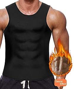 Men Waist Trainer Vest Hot Body Shaper Corset Compression Top Sauna Sweat Suits