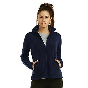 Sofra Teejoy Women's Polar Fleece Jacket (S, Navy)