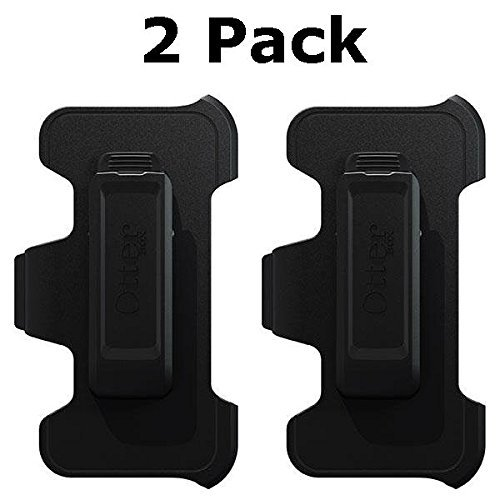 OtterBox Defender Series Holster Belt Clip for Apple iPhone SE / 5s / 5c / 5 - Black - Bulk Packaging (2 Pack)