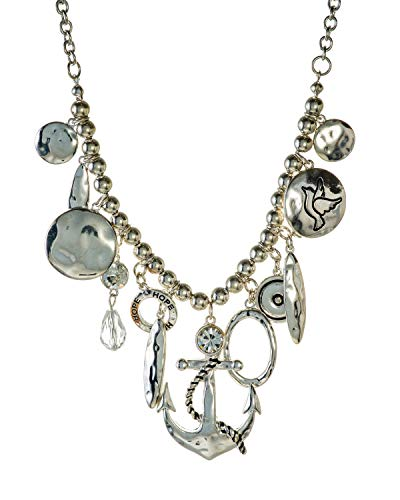 Jewelry Nexus Hammered Anchor with Circle of Hope 18