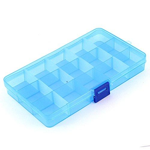 Medizin Schmuck Kunststoff Aufbewahrungsbox Organizer Container mit 15 Fächern