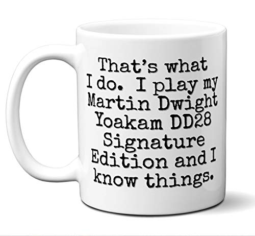 (Guitar Gift Mug. Martin Dwight Yoakam DD28 Signature Edition Players Lover Accessories Music Teacher Lover Him Her Funny Dad Men Women Card Pick Musician Acoustic Unique. 11 oz.)