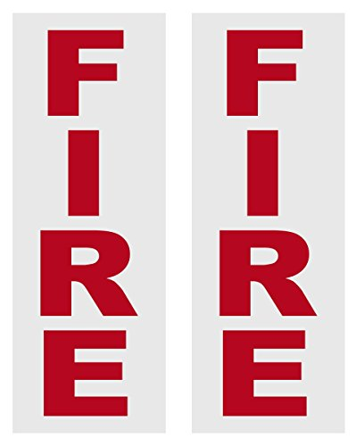 Photo Fire Alarm Box Reflective Decals (Package of 2)