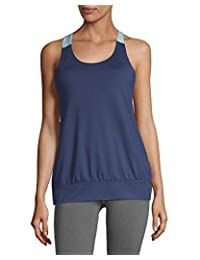 Gaiam Women's Willa Racerback Tank Top Built in Medium Impact Wireless Bra