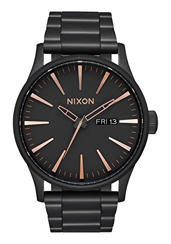 Nixon-Mens-Sentry-SS-Quartz-Stainless-Steel-Casual-Watch-ColorBlack-Model-A356957
