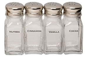 Espresso Supply Labeled Shaker Set, Set of 4