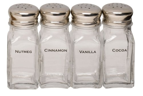 Espresso Supply Labeled Shaker Set, Set of 4