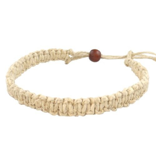 Hemp Jewelry Handmade (Hawaii Hemp Handmade Bracelet or Anklet with Hawaiian Koa Wood Bead)