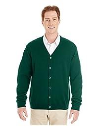 Harriton Men's Pilbloc V-Neck Button Cardigan Sweater