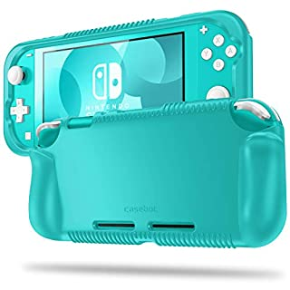 Fintie Case for Nintendo Switch Lite 2019 - Soft Silicone [Shock Proof] [Anti-Slip] Protective Cover with Ergonomic Grip Design for Switch Lite Console (Turquoise)