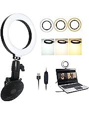 Usb Led-ringlicht Met zuignap, Macllar-ringlicht voor zoomoproep, YouTube, streaming, selfie, videogesprek, webcam-ringlicht voor computer, laptop, bureau, muur