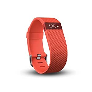 Fitbit Charge HR Wireless Activity Wristband (Tangerine, Large (6.2 - 7.6 in))