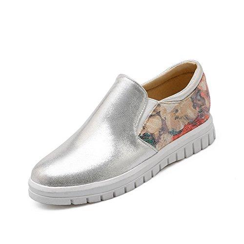 BalaMasa Pull-On Ladies Two-Toned Pull-On BalaMasa Round-Toe Urethane Flats-Shoes B07226HRZ3 Shoes 1e07d1