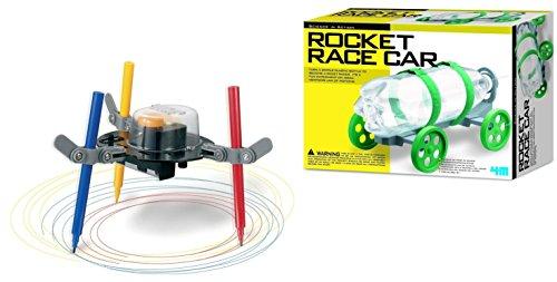 4M Rocket Race Car Kit PLUS Doodling Robot