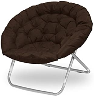 Beau Large Oversized Folding Moon Chair (Brown)