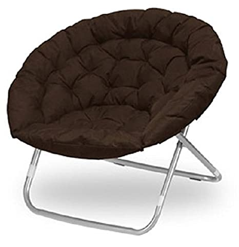 Urban Shop Brow Large Oversized Folding Moon Chair Brown Large Oversized Chair E61