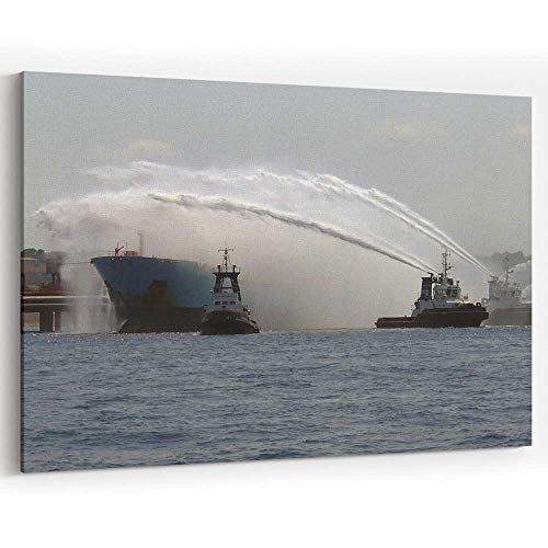 - Actorstion Search and Rescue Fireboats in Action Canvas Art Wall Dcor for Modern Home Decor