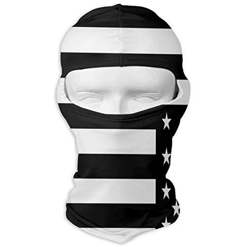 YIXKC Balaclava Memorial Day Flag Stylish Full Face Masks UV Protection Skiing for Women ()