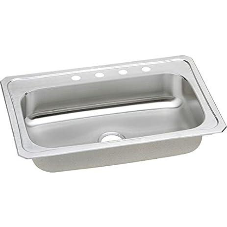 Elkay CRS33223 Gourmet Celebrity Sink, Stainless Steel - Single ...