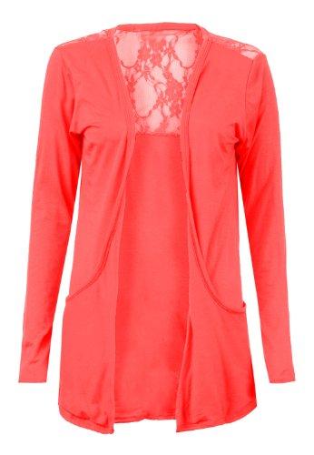 Fast Fashion -  Cardigan  - Donna rosso corallo 42