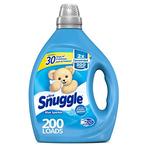 Snuggle Liquid Fabric Softener, 2X Concentrated, Blue Sparkle, 200 Loads, 80 fl. oz. (Best Baby Detergent And Fabric Softener)