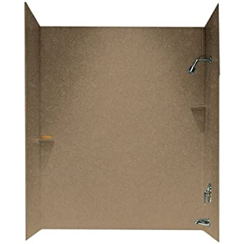 Transolid RBE6026-96 Solid Surface Tub/Shower Wall Kit, 32-Inch x ...