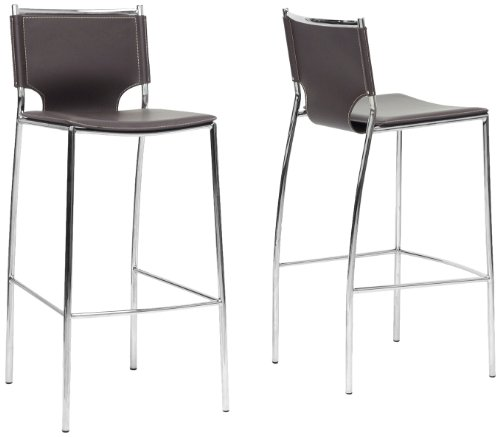 - Baxton Studio ALC-1083A-75 Brown-2 Bar Stool 2-Piece Set, Brown