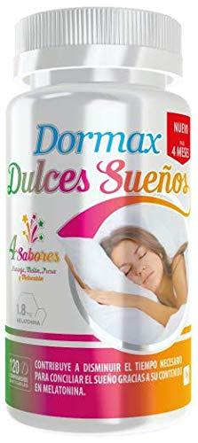 Dormax Dulces Sueños con 1,8 mg de melatonina - 120 comprimidos masticables de sabores