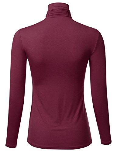 FLORIA-Womens-Long-Sleeve-Lightweight-Turtleneck-Top-Pullover-Sweater-S-3X